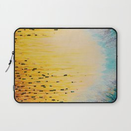 MYSTIC GARDEN Lovely Fairy Land Abstract Painting Acrylic Fine Art Winter Colorful Fantasy Magical Laptop Sleeve