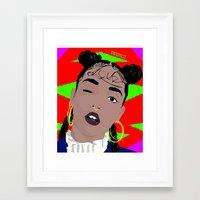 fka twigs Framed Art Prints featuring FKA TWIGS by RVRXSPXCIX