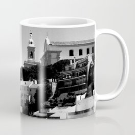 Portugal Hills, Lisbon   Black & White Coffee Mug