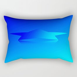 Star Flight Space Carrier - Midnight Navy Blue Turquoise Rectangular Pillow
