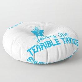 I like beautiful melodies telling me terrible things Floor Pillow