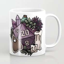Witchy D20 Tabletop RPG Gaming Dice Coffee Mug