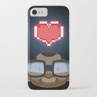 video games iPhone & iPod Cases featuring I love Video Games  by Shihab Aldeen