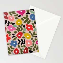 Flower meadow in muted colours Stationery Cards