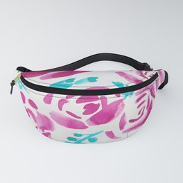 7  |  190412 Flower Abstract Watercolour Painting Fanny Pack