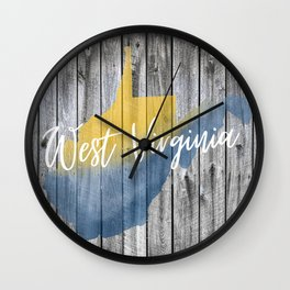 West Virginia State Map Barn Wall Wall Clock