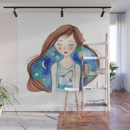 Thinking about you Wall Mural