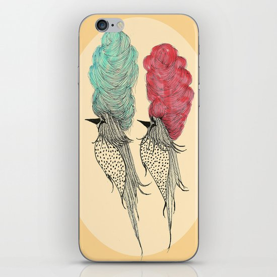 Bouffant Birds iPhone & iPod Skin