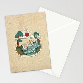 Minhwa: Jumping Carps Terrarium A Type (Korean traditional/folk art) Stationery Cards