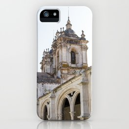 View of the Alcobaca Monastery from the cloister on bright, sunny day. iPhone Case