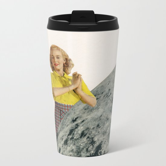 He Gave Her The Moon Metal Travel Mug