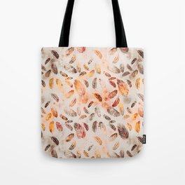 Autumn Feathers watercolor pattern Tote Bag
