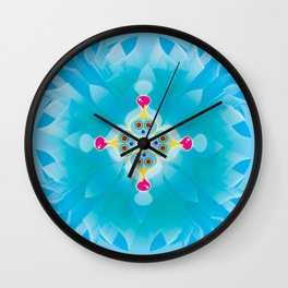 Blue Lub Kaleidoscope Wall Clock