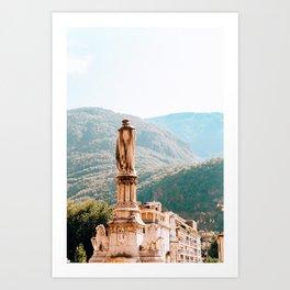 Statue of Walter Von Der Vogelweide - Bolzano, Italy Art Print