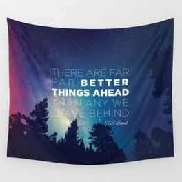 """CS Lewis """"Better Things Ahead"""" Wall Tapestry"""