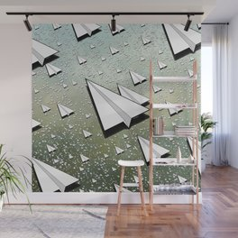 Paper Airplane 111 Wall Mural