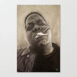 Biggie in Charcoal Canvas Print