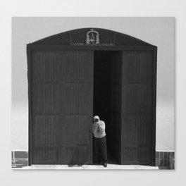 Photographing the photographer, Antonio Caggiano Canvas Print