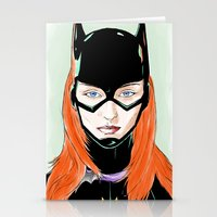 batgirl Stationery Cards featuring Batgirl by Matthew Bartlett