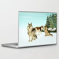 wolves Laptop & iPad Skins featuring Wolves by Kileigh Gallagher