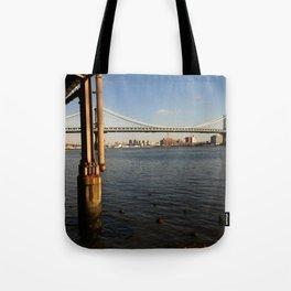 NYC East River | Manhattan Bridge Tote Bag