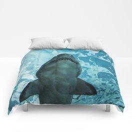 Shark Photography | Deep Sea | Ocean Art | Wildlife | Nature | Fish Comforters