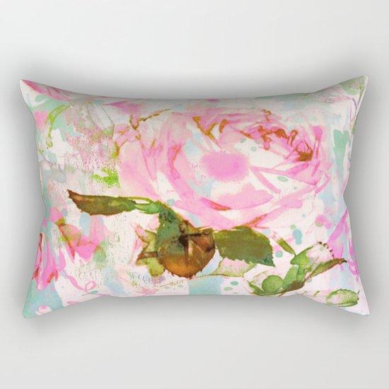 abstract pink rose Rectangular Pillow