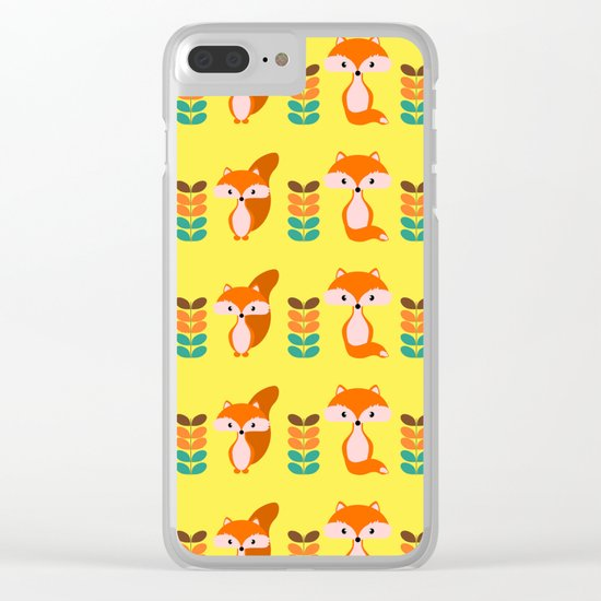 Cute foxes Clear iPhone Case