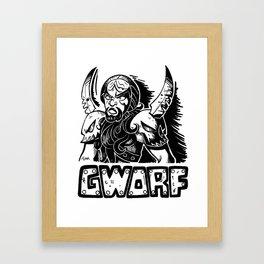 Gworf Framed Art Print