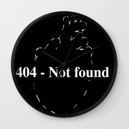 404 - Not found Wall Clock