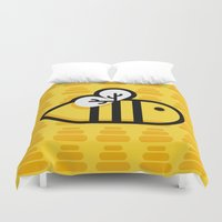 bee Duvet Covers featuring Bee by Liliana P.