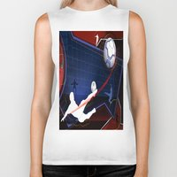 soccer Biker Tanks featuring Soccer by Robin Curtiss
