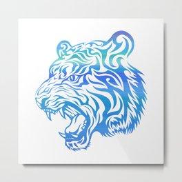 Fierce Tiger v.2 Metal Print