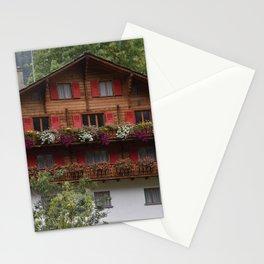 Swiss Alpine Chalet in Valais Switzerland Stationery Cards