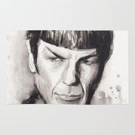 Spock Watercolor Portrait Rug