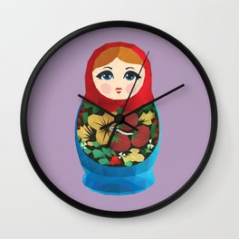 Matryoshka Polygon Art Wall Clock
