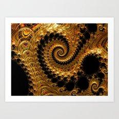 Spiralling into the Golden Vortex Art Print