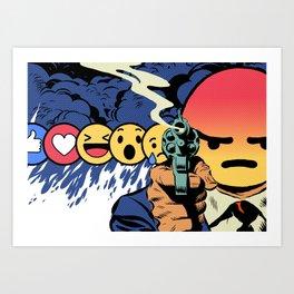 Social Angry Art Print