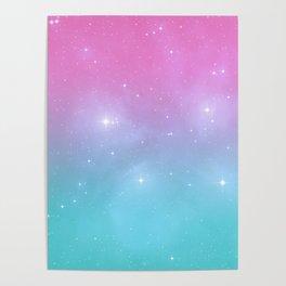 Pastel Goth Galaxy Poster