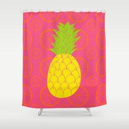 Pineapple Wheels Shower Curtain