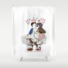 Gimme that Kiss! Shower Curtain