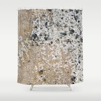 concrete Shower Curtains featuring Concrete by Herzensdinge