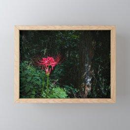 A Spider Lily on Mount Ikoma Framed Mini Art Print
