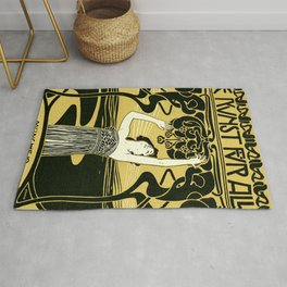 Art Nouveau Vintage Poster by Koloman Moser - Kunst fur Alle - Art for Everyone Rug