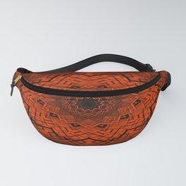 Black and orange kaleidoscope Fanny Pack