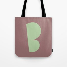 Hand-Lettered B Art Print Tote Bag