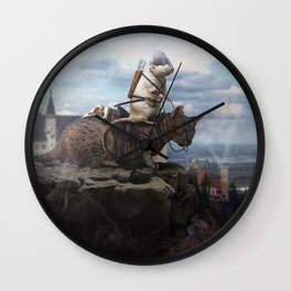The Dragon Hunter Wall Clock