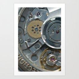 Macro of the watches mechanism Art Print