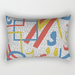 MUMBLE JUMBLE PRIMARY Rectangular Pillow