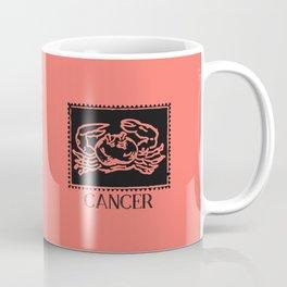 Cancer Vintage Zodiac on Living Coral Coffee Mug